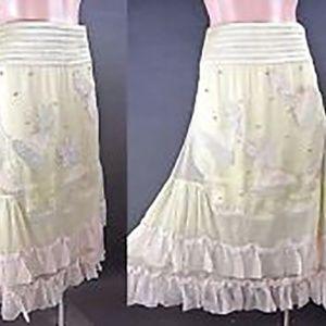 Nataya NWT Fairy Angel Boho Ruffle Skirt M